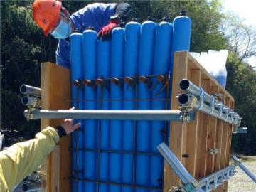 建筑多标号混凝土拦茬防串标用充气棒