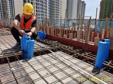 重庆建筑高低标号混凝土拦茬隔断气囊施工视频