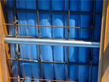 建筑梁头高低标号混凝土拦截阻断用充气棒